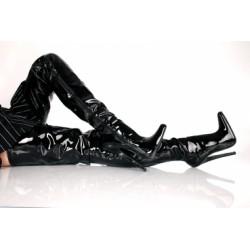 Kassiopeya kozačky nad kolena černé lesklé EXTREM