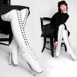 Kassiopeya BALLET boots nad kolena bílé